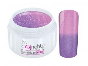 Ráj nehtů - Barevný UV gel THERMO - violet/pink glimmer - 5 ml