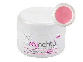 Ráj nehtů UV gel modelovací - růžový - 50 ml