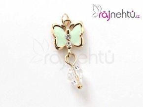 piercing motýl zelený