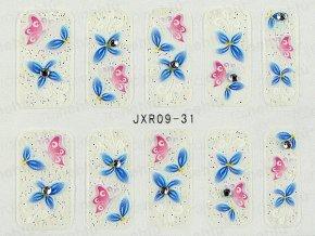Samolepky na nehty 3D - serie JXR31