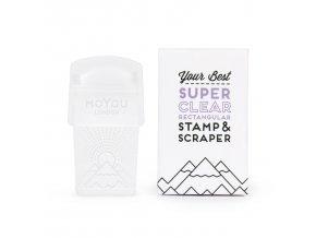 SUPER CLEAR box stamp