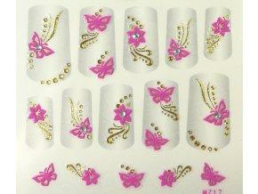 Samolepky na nehty 3D - růžové RZ3