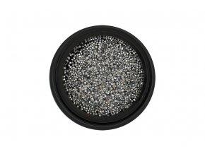 Zirkony na nehty Pixie 1mm Silver
