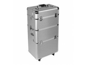 Velký kosmetický kufr - stříbrný