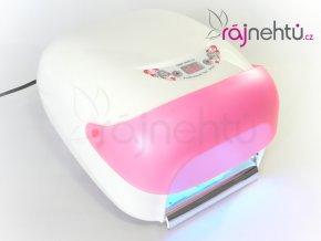 UV lampa na nehty 36W s LCD displejem a sušičkou - růžová