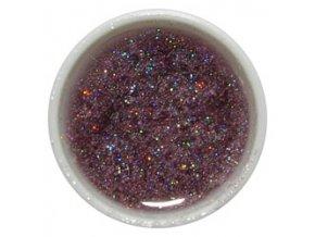 CEDRO sole - Barevný UV gel GLITTER - Světle fialový - 5 ml