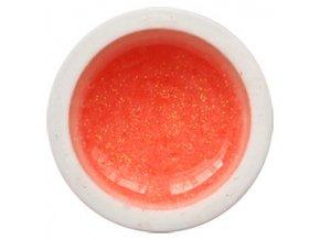 CEDRO sole - Barevný UV gel GLITTER - Meruňkový - 5 ml