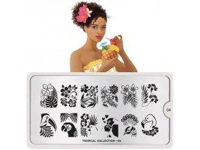 tropical nail art design 04