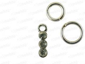 Ozdoba nehtu - Piercing 3 stone