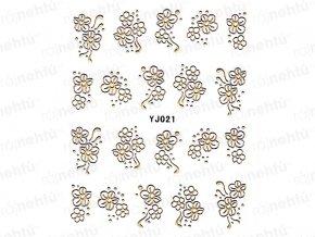 Samolepky na nehty - zlaté 021