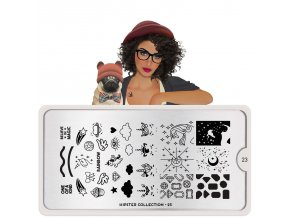 hipster nail art design 23