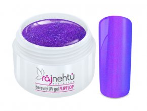 UV gel Flip Flop Purple Blue