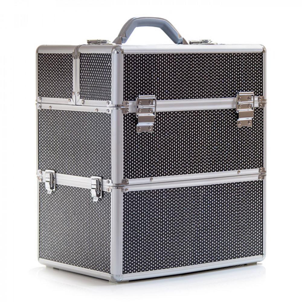 Kosmetický kufřík SENSE 2v1 - glitter, černý