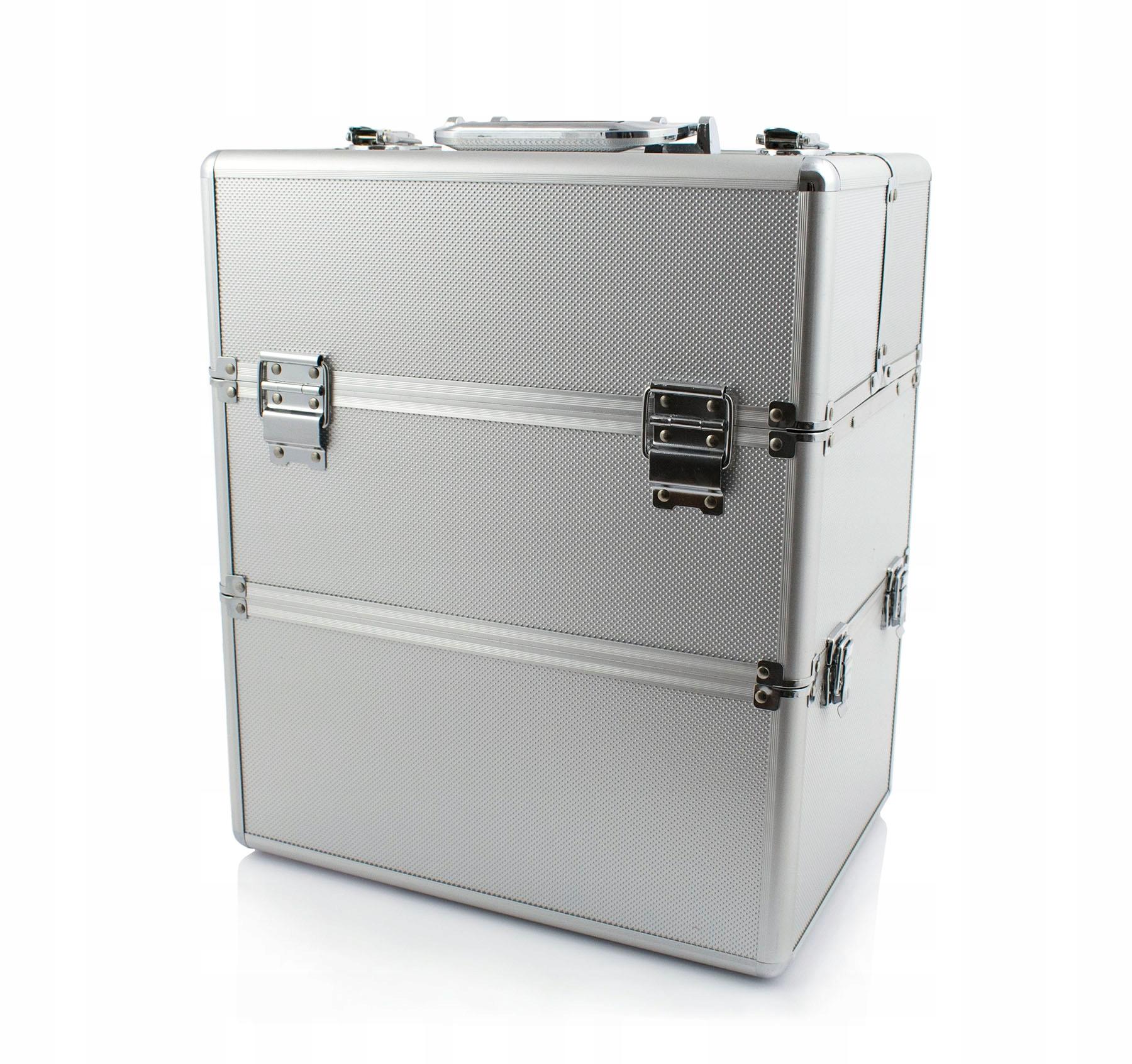 Kosmetický kufřík SENSE 2v1 - stříbrný