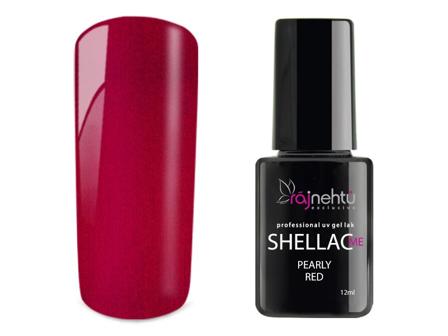 Levně Ráj nehtů UV gel lak Shellac Me 12ml - Pearly Red