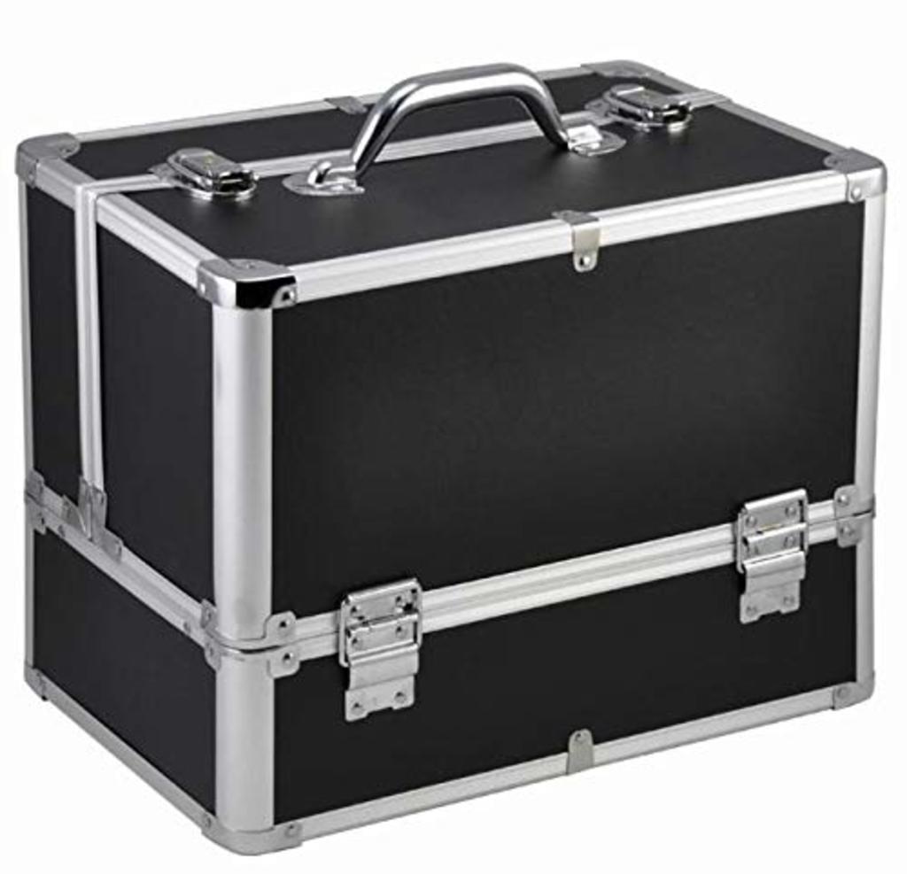 Ráj nehtů Kosmetický kufr LUXURY - XL, černý