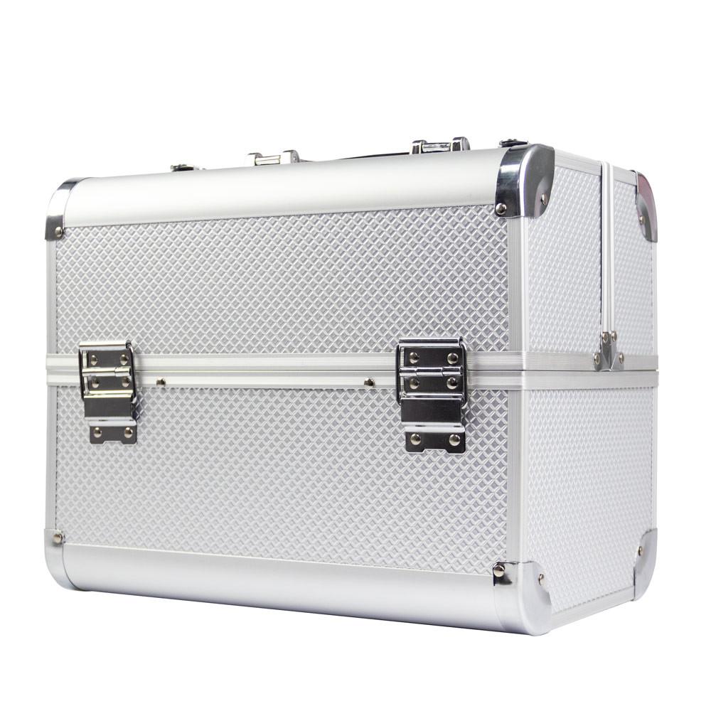 Ráj nehtů Kosmetický kufřík KARO stříbrný