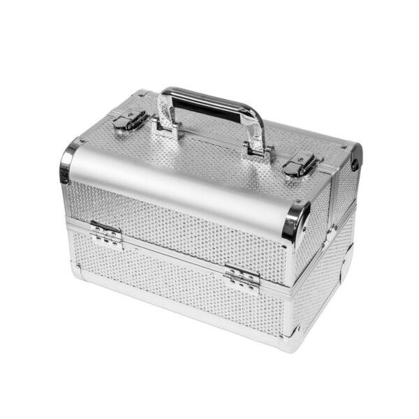 Ráj nehtů Kosmetický kufřík SENSE - glitter, stříbrný, malý