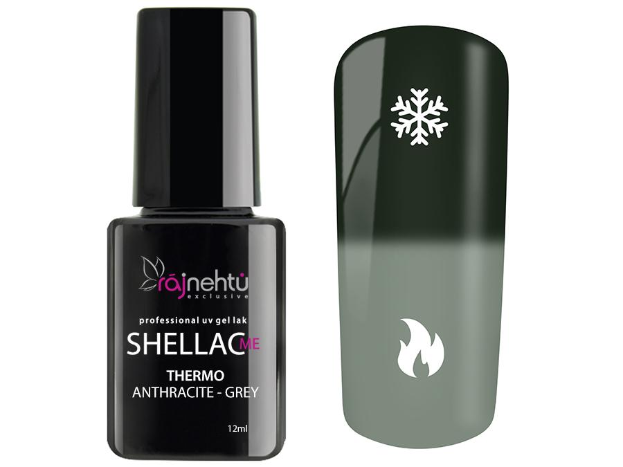 Ráj nehtů UV gel lak Shellac Me Thermo 12ml - Anthracite-Grey