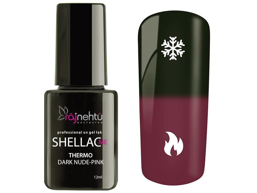 Ráj nehtů UV gel lak Shellac Me Thermo 12ml - Dark Nude-Pink