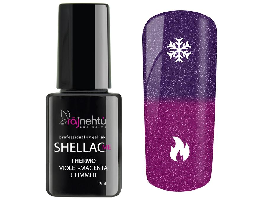 Ráj nehtů UV gel lak Shellac Me Thermo 12ml - Violet-Magenta Glimmer