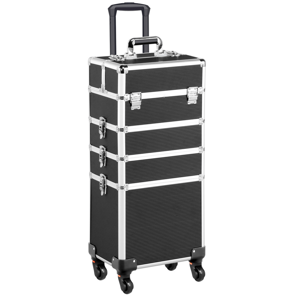 Ráj nehtů Kosmetický kufr LUXURY 4v1 - černý