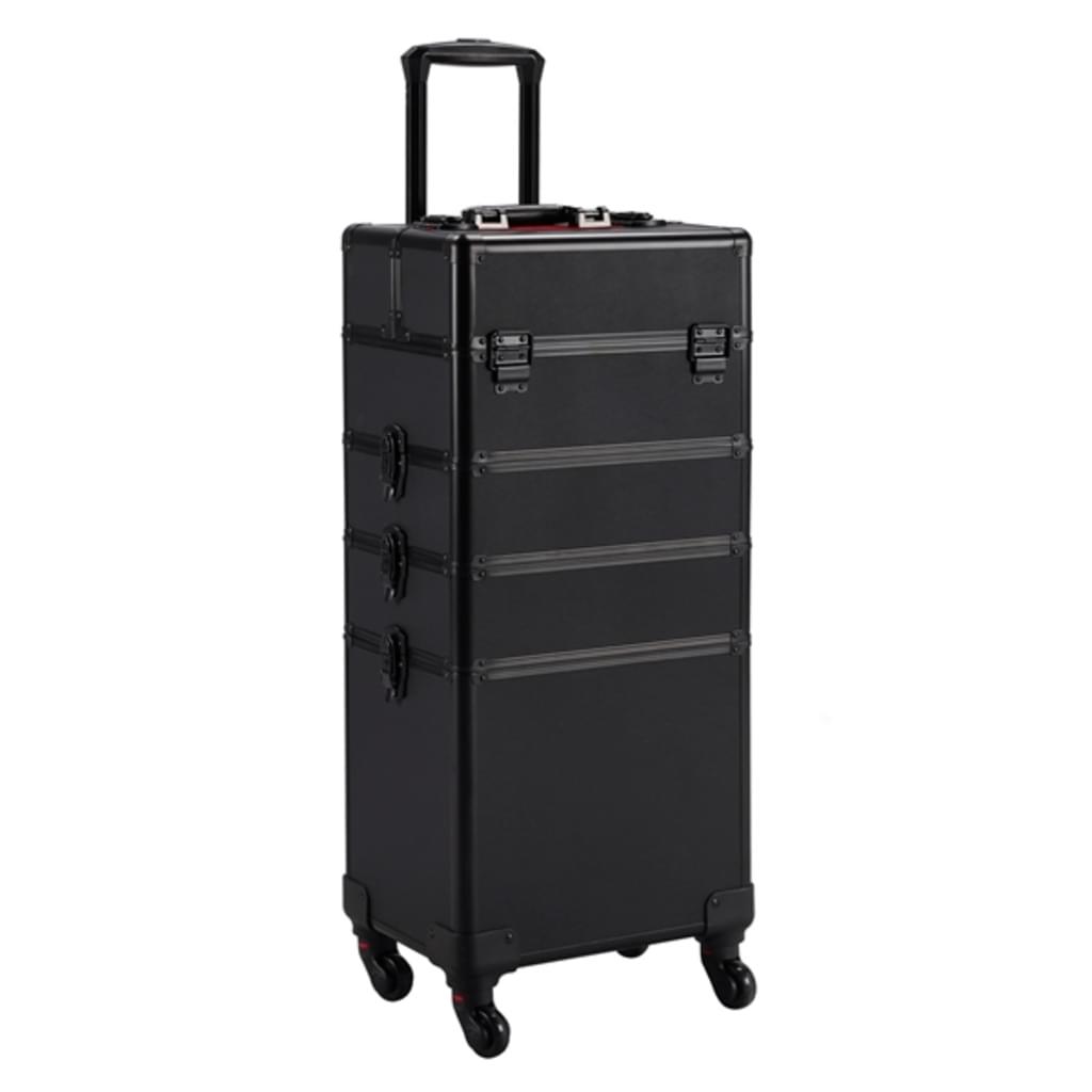 Ráj nehtů Kosmetický kufr LUXURY 4v1 - černo-černý