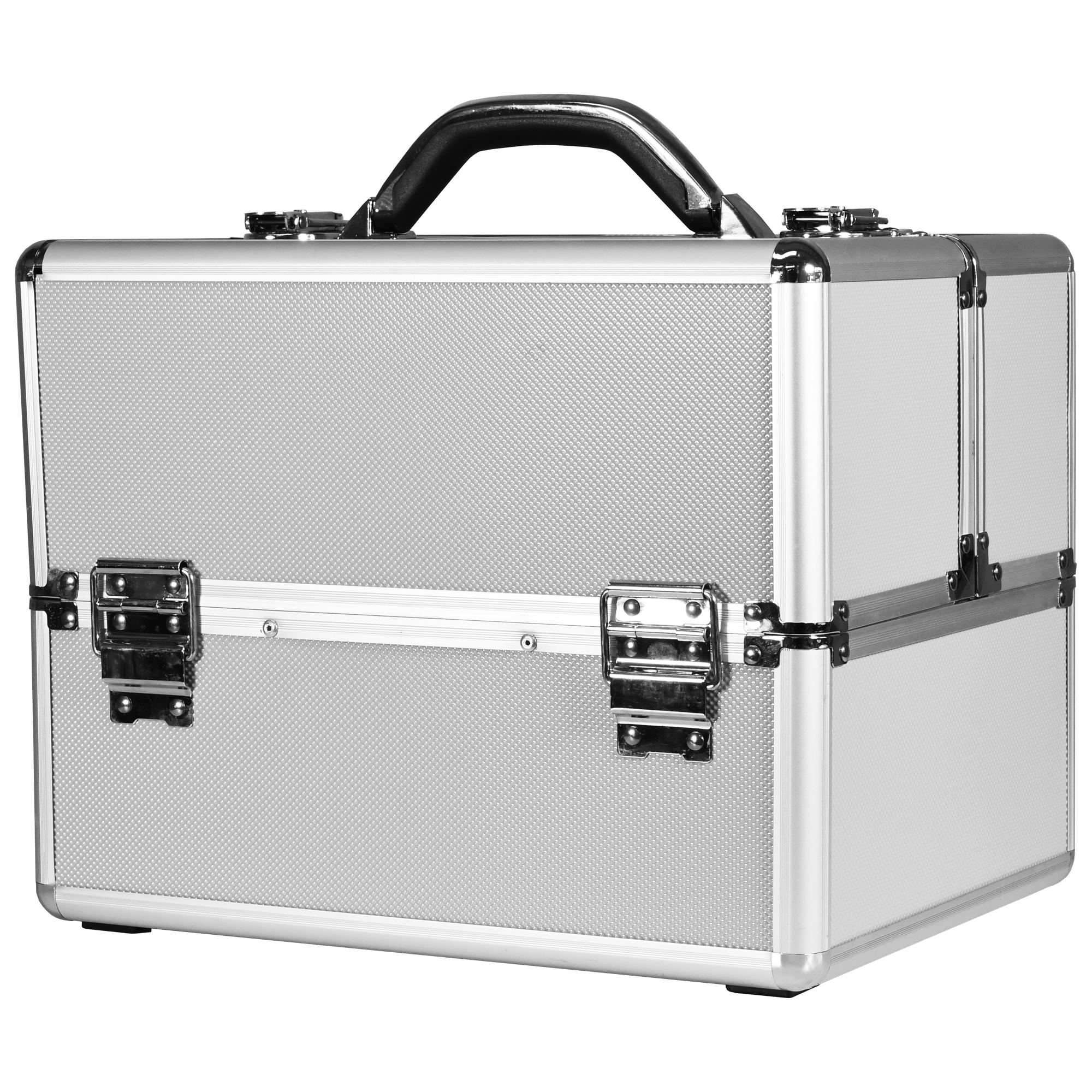Ráj nehtů Kosmetický kufřík TRIO - stříbrný