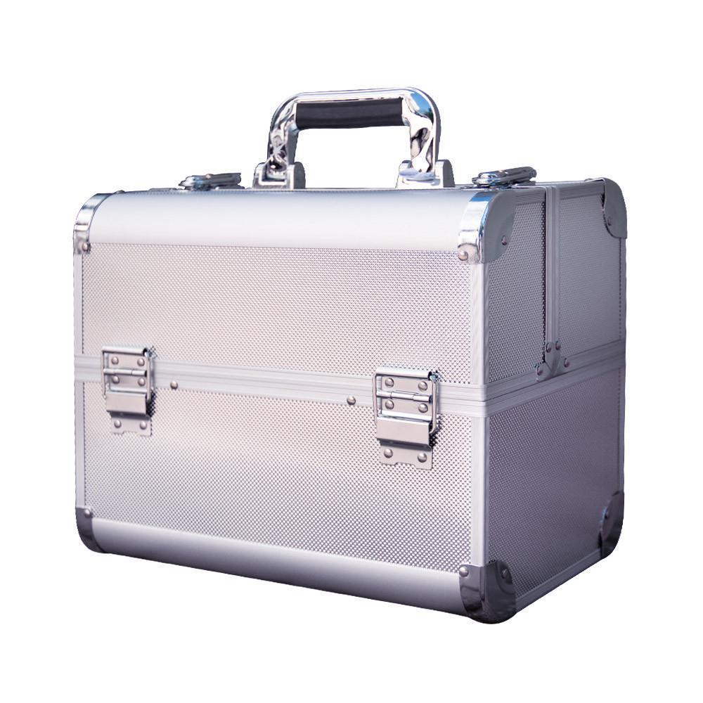 Ráj nehtů Kosmetický kufřík DOTS stříbrný