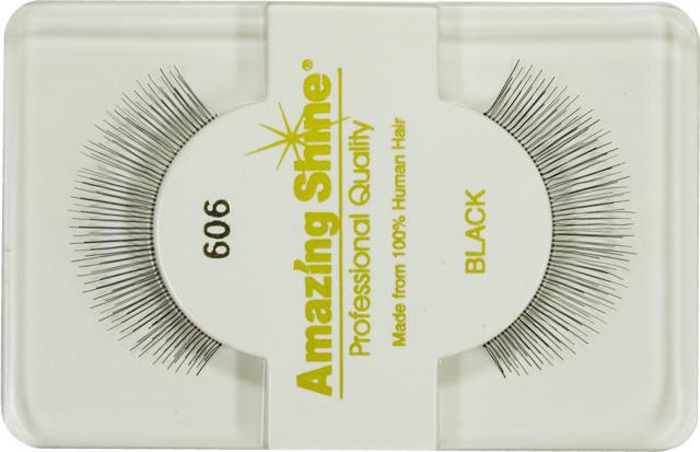 Amazing Shine EYELASH BLACK nalepovací řasy celé na elastickém proužku, černé č.606