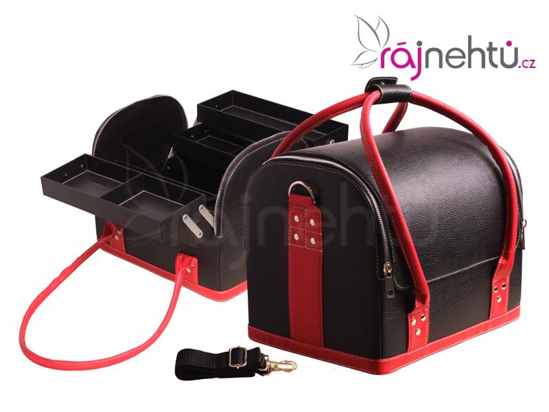 Ráj nehtů Kosmetický kufřík - černo-červený