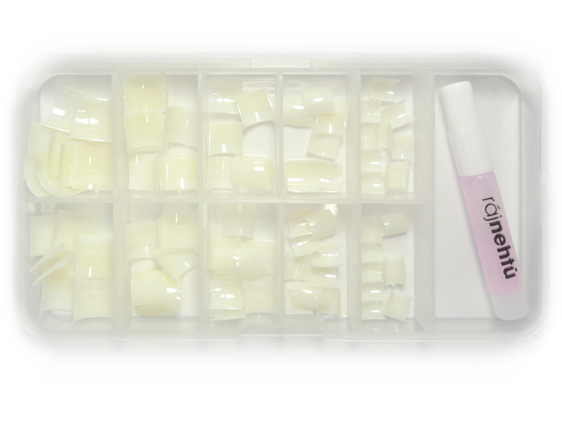 Ráj nehtů - nehtové tipy krátké přírodní - vel.0-9 - sada - 100ks