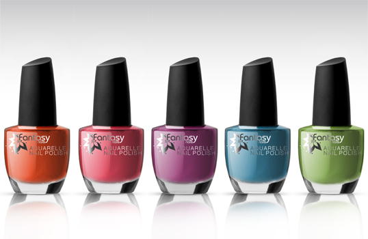 Ráj nehtů Fantasy line Fantasy Nails - Lak na nehty Aquarelle set 5x15ml