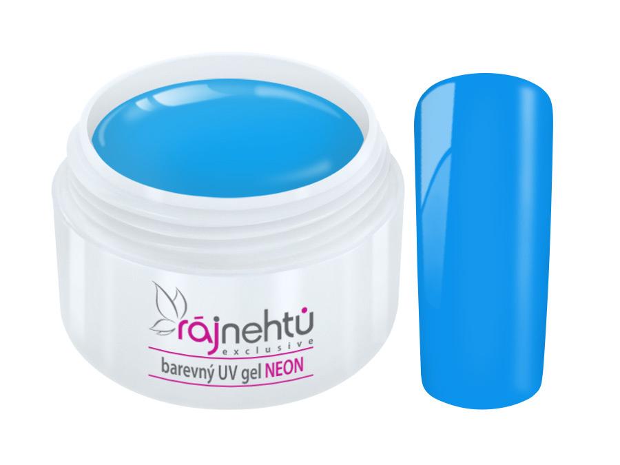 Levně Ráj nehtů Barevný UV gel NEON - Blue - Modrý 5ml