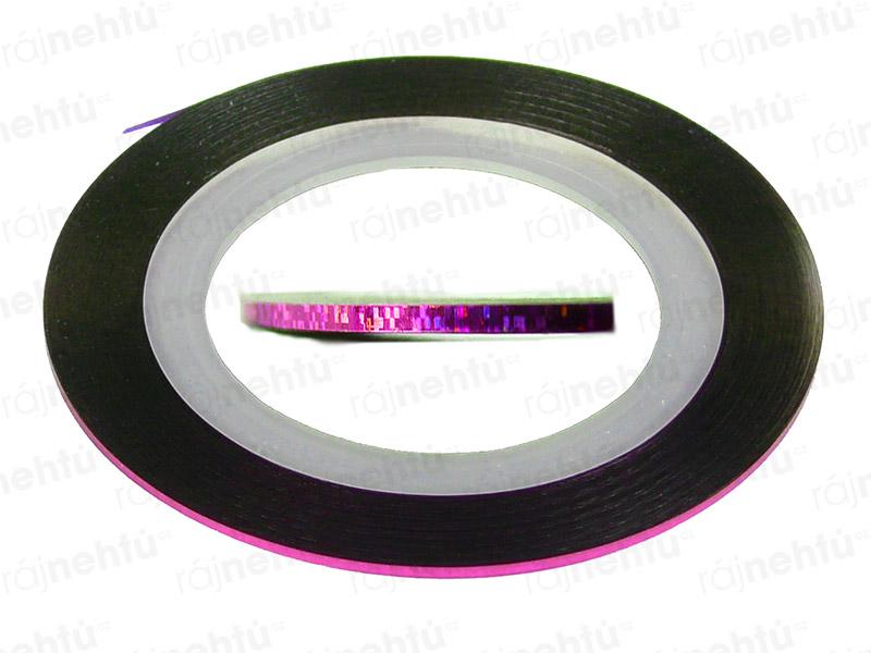 Zdobící páska - glitter růžová