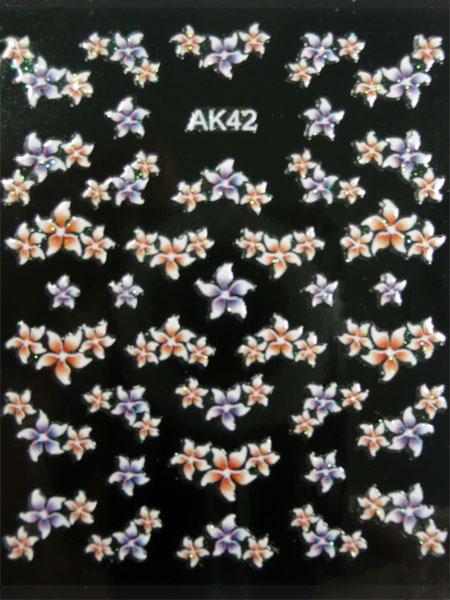 Samolepky na nehty 3D - AK42