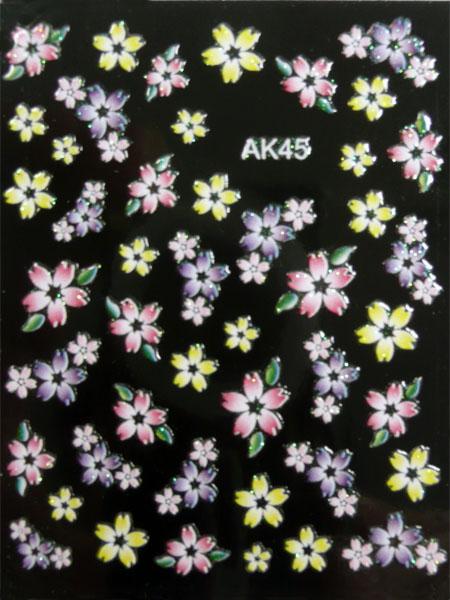 Samolepky na nehty 3D - AK45
