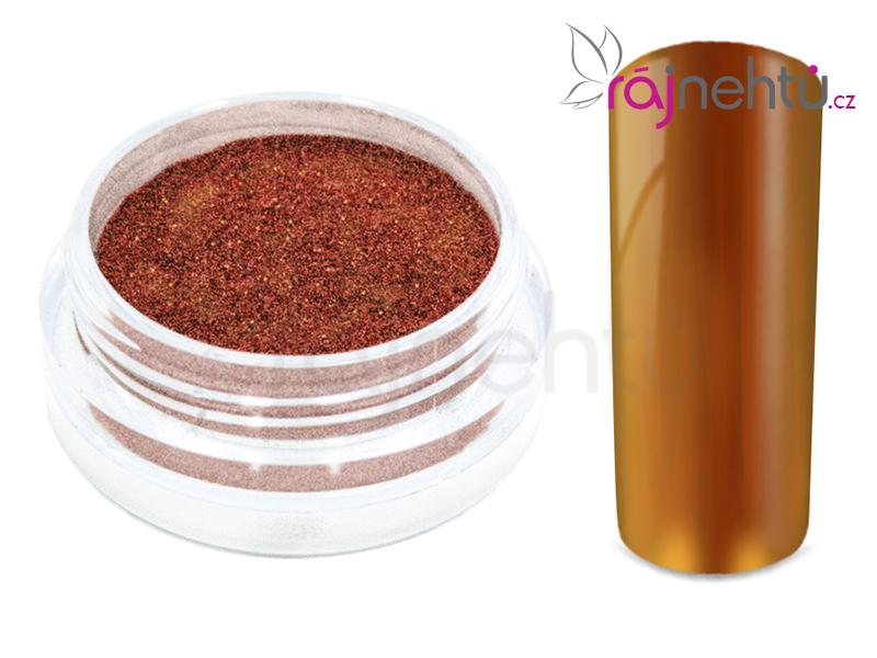 Levně Ráj nehtů Chromový pigment Flip Flop - red/gold 0,5g