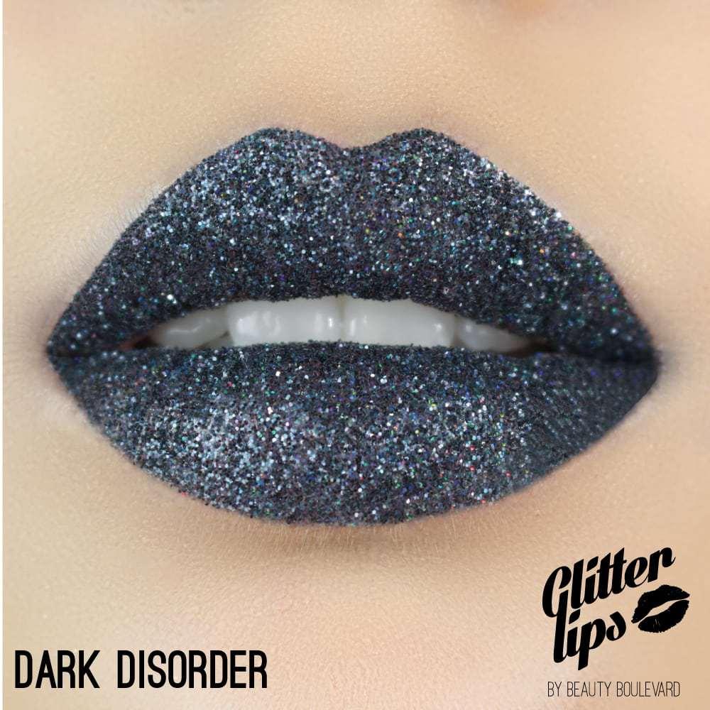 Beauty Boulevard Glitter Lips, voděodolné třpytky na rty - Dark Disorder 3,5ml