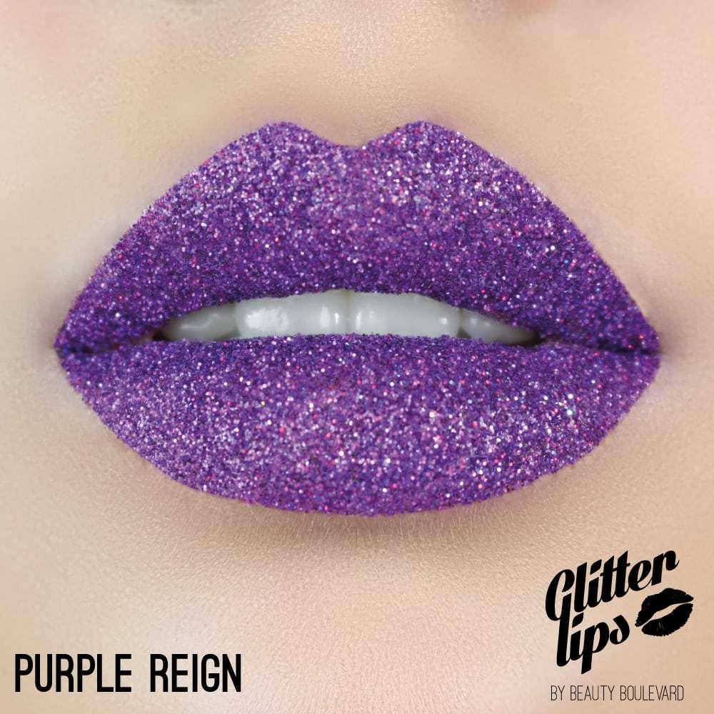 Beauty Boulevard Glitter Lips, voděodolné třpytky na rty - Purple Reign 3,5ml