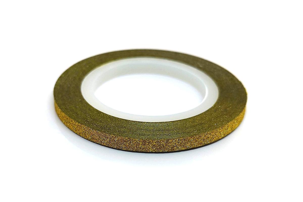 Zdobící páska 3mm - glitter zlatá