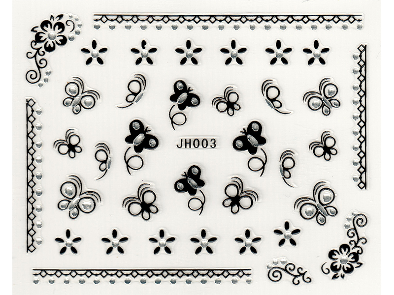 Samolepky na nehty 3D - JH003