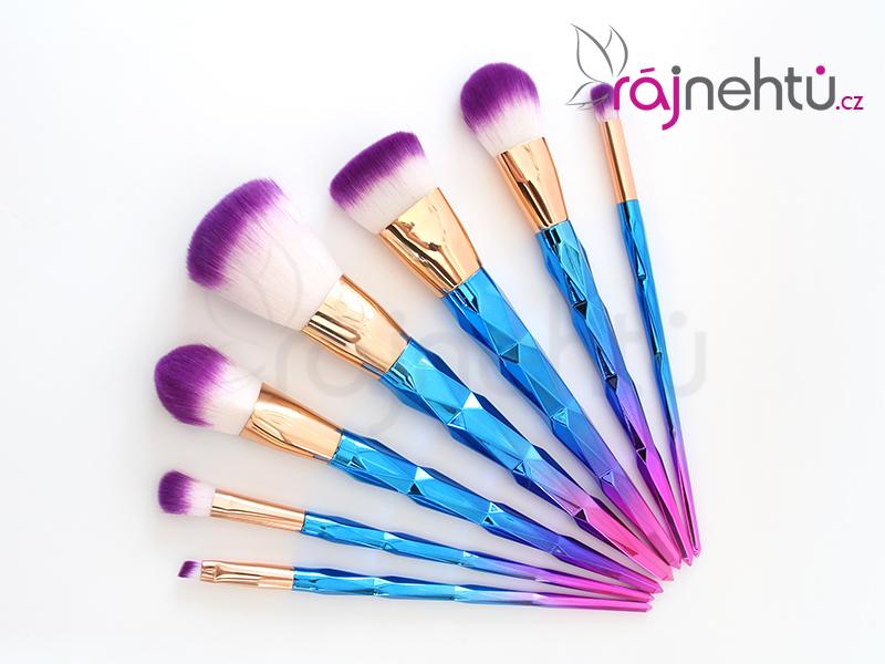 Ráj nehtů Sada kosmetických štětců 7ks - Unicorn