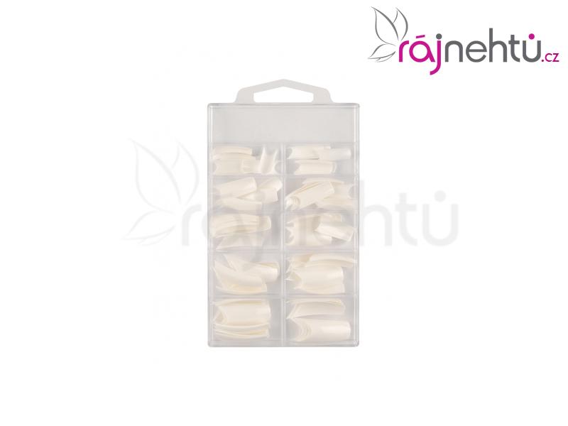 Ráj nehtů - nehtové tipy Fancy bílé - vel.0-9 - sada - 100ks
