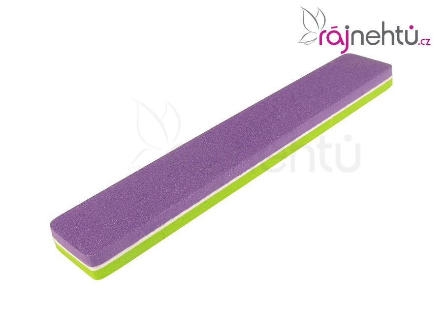 Pěnový pilník fialovo-zelený 120/180