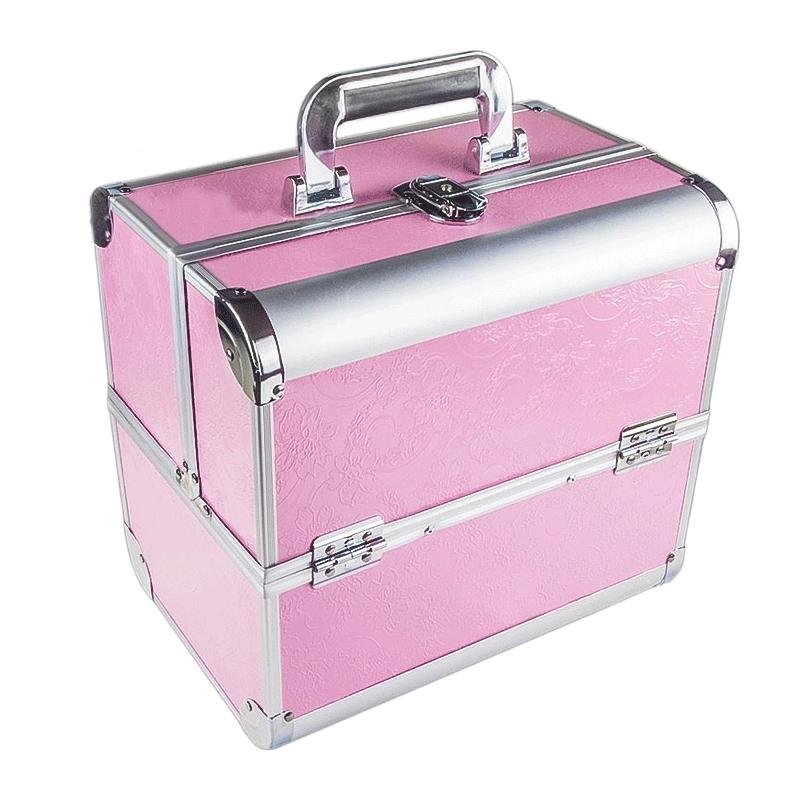Ráj nehtů Kosmetický kufřík SENSE - dekor, růžový