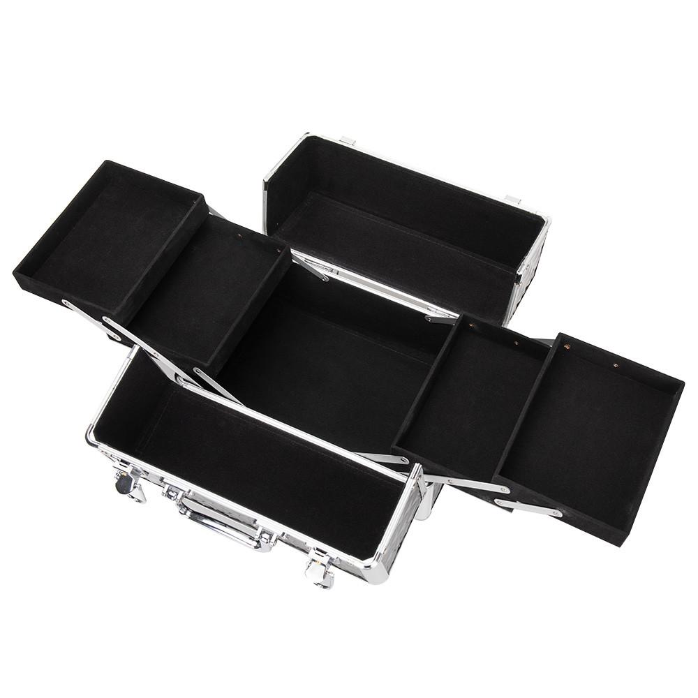 Ráj nehtů Kosmetický kufřík SENSE - glitter, černý