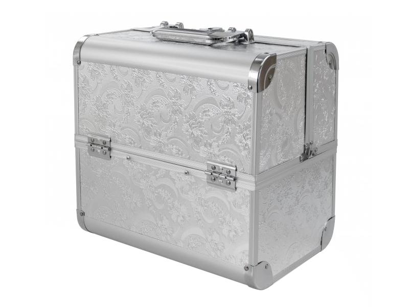 Ráj nehtů Kosmetický kufřík SENSE - dekor, stříbrný