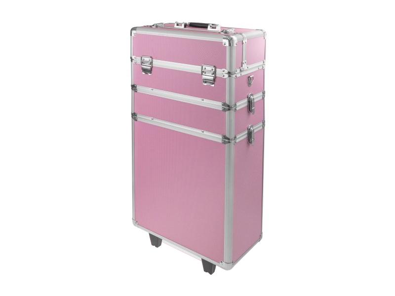 Ráj nehtů Velký kosmetický kufr SENSE 3v1 - růžový
