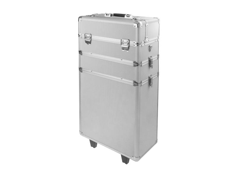Ráj nehtů Velký kosmetický kufr SENSE 3v1 - stříbrný
